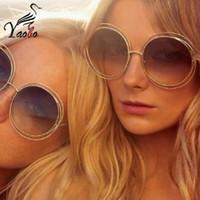 Wholesale Glass Mirror Coating - Yaobo Gothic Steampunk Mens Sunglasses Vintage Metal Men Coating Mirror Sunglasses Women Round Sun glasses Retro UV400 Shades