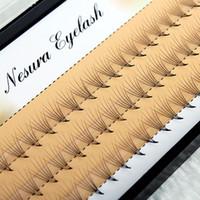 Wholesale Wholesale Individual Silk Eyelashes - 1box Women 0.07mm C 6D Wave Individual Eyelashes Extension Mink Black Silk Soft False Eye Lashes Tools