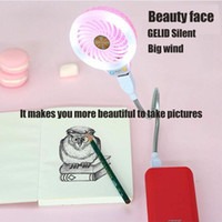 Wholesale Gadget New - New Beauty fan Selfie stick Durable Adjustable USB Gadget Mini Flexible LED Light USB Fan Desktop Clock Cool Gadget Time Displa