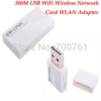 Wholesale Mini Laptop Computer Windows - Wholesale- Mini 300Mbps USB WiFi Wireless Network Card 802.11b g n wifi Computer WLAN usb Adapter for windows 7 8 Linux 2.6.X; Mac OS X