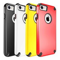 Wholesale Hybrid Silicone Plastic Combo Case - 2017 Heavy Duty Hybrid Robot Rubber Rugged Combo Silicone PC Case for iphone 7 7Plus Shockproof Back Cover