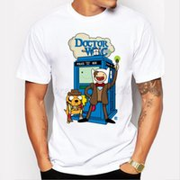 Wholesale Police Box Sale - Camping Hiking T-Shirts Hot sale DR WHO design men cartoon doctor who police box printed t shirt short sleeve casual hipster fashion funny