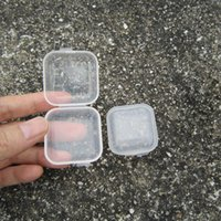 Wholesale Small Medicine Storage - Plastic Portable Clear Transparent Jwelry Cosmetic Boxes Medicine Pill Box Small Square Tablet Case Sundry Storage Holder ZA2139