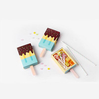 Tiroir À Tiroirs Pas Cher-Pink Blue Drawer Cute Popsicle Shape Party Favor Boîtes à doigts Wedding Baby Shower Sweet Gift Package Livraison gratuite ZA3843