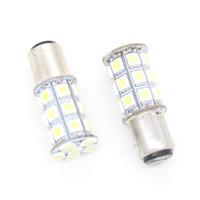 Wholesale Tail Light Bulbs 1157 - 50pcs High Quality T20 7440 1156 1157 Trun Signal Led Bulb 27SMD 5050 27 Led Brake light Marker Lamp Reverse Tail Light 12V   24V 27 SMD