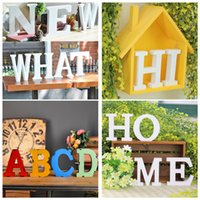 Wholesale Birthday Fonts - Customizable Alphabet English Letter A-Z Number 0-9 symbol Birthday Wedding Party Garden Wall House Table Decoration Props Color, Size, Font