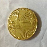 """Wholesale Gold Twenty Dollar Double Eagle - HOT SELLING $20 3 PCS (1927-P-D-S) Real 24K gold plating SAINT GAUDENS TWENTY DOLLARS OR DOUBLE EAGLE """"IN GOD WE TRUST""""ADDED TO REVERS"""