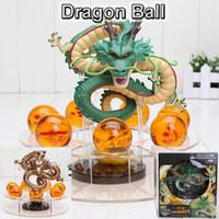 Wholesale Dragon Ball Z Shenron - PrettyBaby dragon ball z action figures lot shenron figure Shenlong pvc with dragonball z crystal ball set 4.2cm dragon ball shelf full set