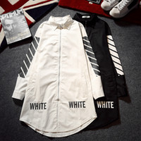 Wholesale Men S Red Trench Coat - Off White Jacket Men Women Long Trench Coat Zipper Slim Virgil Abloh Kanye West Off White Jackets Softshell Red Off White Jacket