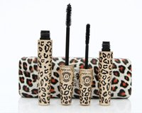 Wholesale Magic Leopard Lashes Mascara - New Love Alpha Mascara Magic Leopard Fiber Mascara Brush Eye Black Makeup Eyelash Grower Eye Black Curling Long Lashes 2pcs set