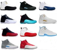 Wholesale Airs Deer - [With Box]2017 high quality Air jump men Retro 12 GS Barons Red deer Nylon all red Men Basketball Shoes retro 12s Sneakers Size 8-13