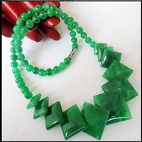 Wholesale Green Jade Circle Pendant - new Women's necklace Natural cold jade Four pieces of cold jade necklace fashion necklace new lady