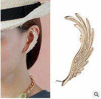 Wholesale Earing Cuffs - 2015 new style for wing gold earing cuff and girls ear clip jewelry factory wholesales 20pcs