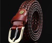 Wholesale plain metal belt buckles - 2017 New Mens Womens Canvas Plain Webbing Metal Buckle Woven Stretch Waist Belt Canvas Braided Belts Hot Sale Designer Belt