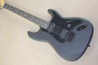 Wholesale Electric Guitar Matte Black - Wholesale-free shipping Top quality New Arrival St Matte black Electric Guitar black color pickguard emg pickup electric guitar 1027