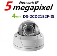 Hikvision Original English Version DS-2CD2152F-IS POE 5MP Слот для карты Звуковая сигнализация IP66 Наружная ИК-камера 30M ONVIF Купольная IP-камера