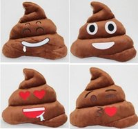 Wholesale Wholesale Funny Christmas Presents - 300PCS Decorative Cushion Emoji Pillow Gift Cute Shits Poop Stuffed Toy Doll Christmas Present Funny Plush Bolster Pillows