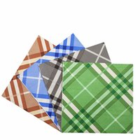 décorations de mariage gris achat en gros de-New Vintage serviette en papier de serviette tissu bleu gris vert noir blanc fête de mariage cocktail serviette de fête décoration serviette Guardanapo