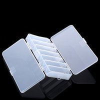 Wholesale Fly Fishing Box Case - Wholesale- 14 Compartments Fish Lures Hard Plastic Cases Double Sided Spinner Useful Multi-function Fly Fishing Storage Tackle Box