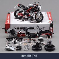 Wholesale Benelli Tnt - 2017 Brinquedos 1:12 Diy Assembly Motorcycle Model Building Kits Toy Benelli TNT Puzzle For Child Gift Or Collection
