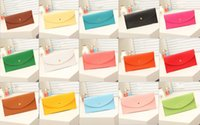 Wholesale Cheap Korean Bags Wholesale - Candy color 2016 men and women Wallet card bag handbag clutch women messenger bag of pu leather handbags cheap wholesale