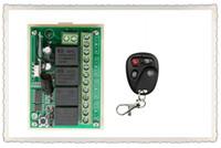transmissor remoto receptor interruptor sem fio venda por atacado-Atacado-DC12V 4CH 10A Sistema de Interruptor de Controle Remoto Sem Fio Receptor + Transmissores teleswitch para Porta da Garagem Portas Aparelhos