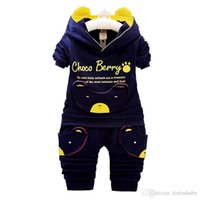 Wholesale panda clothes summer for sale - Group buy Baby Casual Suit Children Spring Autumn Tracksuit Boys Girls Long sleeve Clothes Children Devil Panda Hoodie and Pants Set Kids Clothing