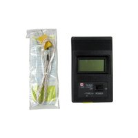 Wholesale Digital Lcd Probe Thermometer - Brand New TM-902C Black K Type Digital LCD Temperature Detector Thermometer Industrial Thermodetector Meter + Thermocouple Probe
