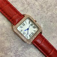 ingrosso guarda prezzo giapponese-Il nuovo modello dell'orologio della signora dell'orologio del vestito dell'orologio del modello quadrante quadra il movimento del Giappone del Giappone multi colori Trasporto libero di prezzi all'ingrosso di alta qualità