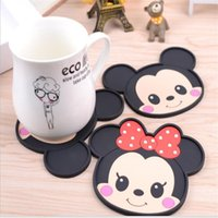 Wholesale Wholesale Dining Placemats - Wholesale- Mickey Mouse silicone dining table placemats coaster coffee drinks kitchen accessories cup bar mug placemats coaster mats pads