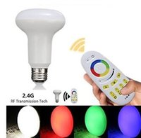 Wholesale 9W G R80 RGBW Led light bulb Indoor decoration E27 E26 B22 discount SMD Remote Control wifi brifge phone