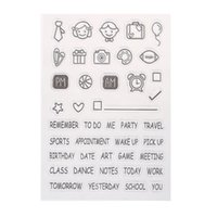 Wholesale Decoration Stamp - Wholesale- New Stamps For Scrapbooking Clear Stamp Embossing Folder Transparent DIY Silicone Seals Scrapbooking Card For Decoration