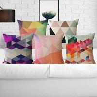 Wholesale Throw Pillows For Sofas - Geometric Pattern Pillow Case Pillowcases Throw Pillow Cushion Covers for Pillows Pillowslip Decorative Sofa Car Home Decorations 45*45cm