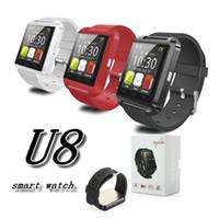 u8 akıllı gözlem arkadaşı toptan satış-U8 Akıllı İzle Bluetooth kol saati Telefon Mate Smartwatch U İzle için Bileklik pasometre Uyku Tracker ip 7 artı 8 samsung not 8 s8 artı