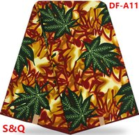 Wholesale High quality popular fashion super wax hollandais african wax prints fabric dutch wax fabric for sewing yards cotton fabric DF A11