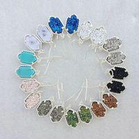 Wholesale Earring Acrylic Dangle - Dangling Earrings Geometric Earrings Scott Druzy Chandelier Earring Various Colors Silver Plated Hot Popular for Lady