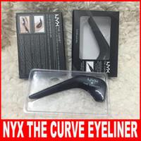 pintura resistente al por mayor-NYX Eyeliner THE CURVED Arc Creative Eyeliner Painting Era Liner Combinación Resistente al agua Duradera, fácil de usar