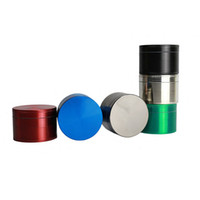 Wholesale Cheap Metal Parts - Herb Grinder 50MM CNC 4 Parts Smoking Zinc Alloy Metal Tobacco 6 Colors Spice Pollen Mini Hand Muller Crusher Wholesale Cheap Grinder