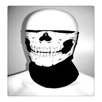 Multi Magic Scarf Masks Enchères de cyclisme Skull Bandana Casque de moto Neck Half Face Masks Seamless Skull Face Tube Mask Livraison gratuite