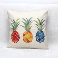 Wholesale 18x18 pillow cases - 2017 Pillow cushion covers Without Pillow core 18x18 Inches Colorful Pineapple Throw Pillow Case Cover Sequins Car Decor