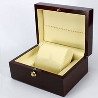 Wholesale Display Solid Wood - High Quality Luxury Solid color Wood Watch Display Case Watches storage Box Perfect Packing Gift Box for Watches