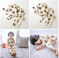Wholesale Cute Pyjama Sets - Cute Animal Alpaca Kids Pajamas for Baby Boys Girls Long Sleeve Cartoon Pyjamas Sleepwear Girls Nightwear Baby Pyjamas Kids Clothing 922