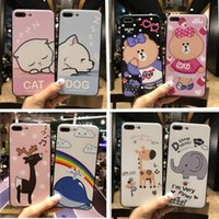 Wholesale Iphone Cell Phone Pictures - For iphone7 cell phone TPU cases with iphone6s plus Ultra thin Creative relief Factory wholesale price animal picture 2017 new free shipping