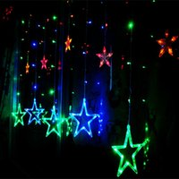 Wholesale Led Blue Star Twinkle Lights - LED String 2M 138leds fairy light 110V 220-240V star curtain lights christmas Xmas wedding party halloween decoratio twinkle lighting
