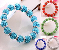 Wholesale Cheap Macrame Disco Ball - DIY Shamballa Crystal Beads Bracelets Macrame Disco Ball Bracelets Jewelry Armband Cheap China Fashion Jewelry wrap charm bracelet