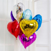 Wholesale Hot Balloon Heart - Hot Sale Star Round Heart Shape Foil Balloons 3 Shape 14 Color 18 Inch Balloons For Kids Birthday Party Supplies Wedding Decoration C122L