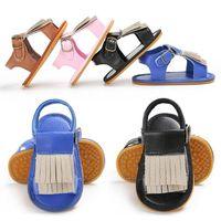 Wholesale Cheap Rubber Flooring Wholesale - 2017 tassel Soft Rubber boys girls sandals,new style newborn baby shoes,0-18 M children floor shoes,cheap china shoes!12pairs 24pcs.SX