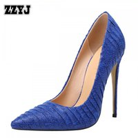 Wholesale Nude Nightclub Women - ZZYJ Women's classic high heels large size spring summer single-layer shoes sexy nightclub party wedding ladies pumps CA8291