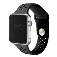 Wholesale Cheap Iwatch - Cheap NK 38MM 42mm watchband original with Light Flexible Breathable silicone watchs strap band for apple watch iwatch watch strap 10 colors