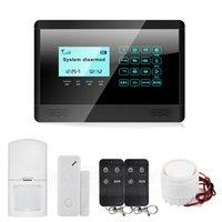 ingrosso pannello di testo-433 MHz Wireless GSM SMS TESTO Tastiera tattile Display LCD Casa Allarme Sistema Secury Touch Panel M2BX